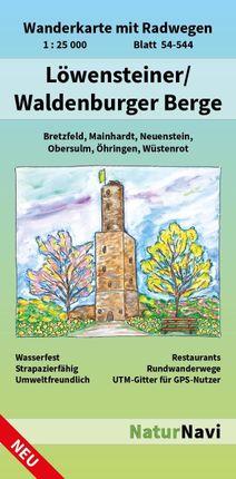 Löwensteiner/Waldenburger Berge 1 : 25 000, Blatt 54-544
