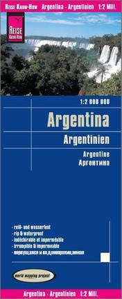 Reise Know-How Landkarte Argentinien 1 : 2.000.000