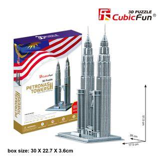 3D dėlionė: Petronas bokštai