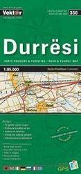 Durresi Provinzkarte 1 : 85 000 GPS