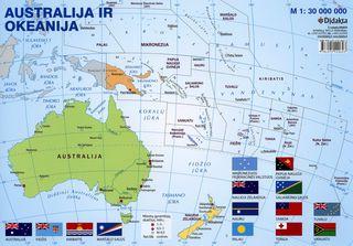 Australijos ir Okeanijos politinis žemėlapis (A 4)