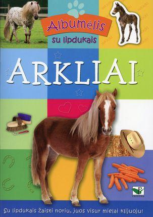 Albumėlis su lipdukais. Arkliai