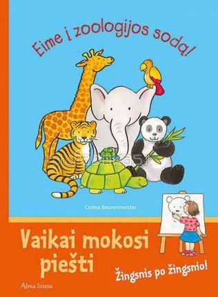 Eime į zoologijos sodą! Vaikai mokosi piešti. Žingsnis po žingsnio