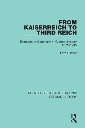 From Kaiserreich to Third Reich