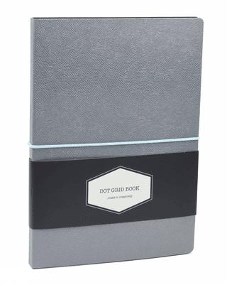 DOT GRID užrašinė Chameleon (alyvinė): išskirtinio dizaino aukštos kokybės užrašinė su lanksčiu ypatingos tekstūros spalvą keičiančiu viršeliu, puslapiais taškeliais ir gumele