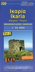 Ikaria Fourni 1 : 35 000 Hiking Map