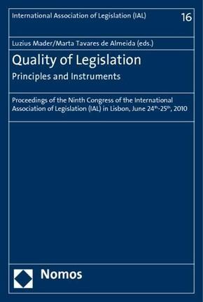 Quality of Legislation - Principles and Instruments