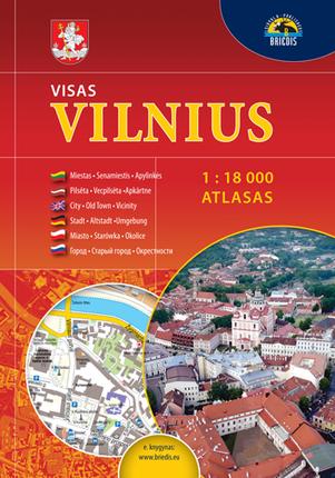 Visas Vilnius. Atlasas. 1 : 18 000