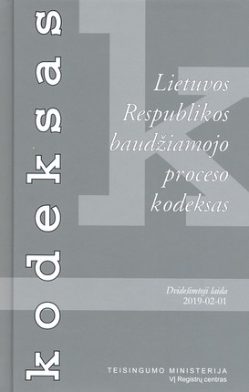 Lietuvos Respublikos baudžiamojo proceso kodeksas (2019 m. vasario 1 d.)