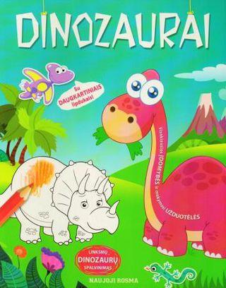 Dinozaurai. Spalvinimo ir užduotėlių knygelė