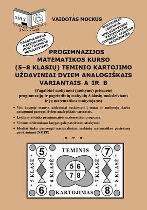 Progimnazijos matematikos kurso (5-8 klasių) teminio kartojimo uždaviniai dviem analogiškais variantais A ir B