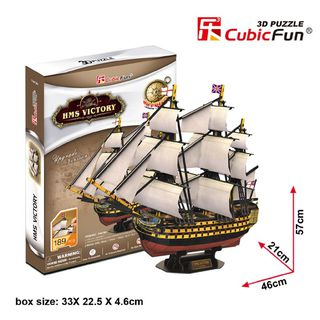 "3D dėlionė: laivas ""HMS Victory"""