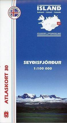 Island Atlaskort 30 Seydisfjördur 1:100.000