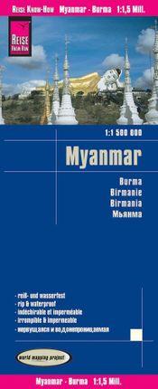 Reise Know-How Landkarte Myanmar 1 : 1.500.000