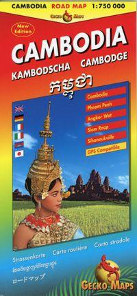 Kambodscha, Cambodia, Cambodge Strassenkarte