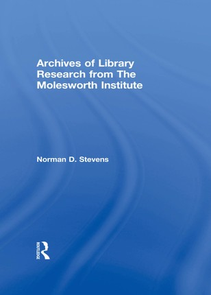 Archives of Library Research From the Molesworth Institute