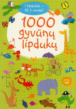 1000 gyvūnų lipdukų