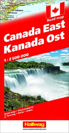 Kanada Strassenkarte Ost 1:2.500 000