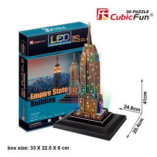 3D dėlionė: Empire State Building (su LED apšvietimu)