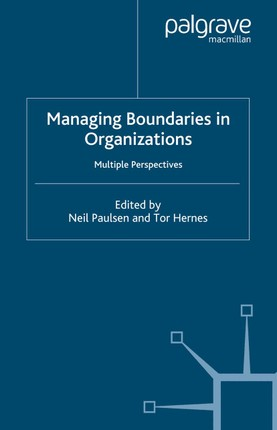 Managing Boundaries in Organizations