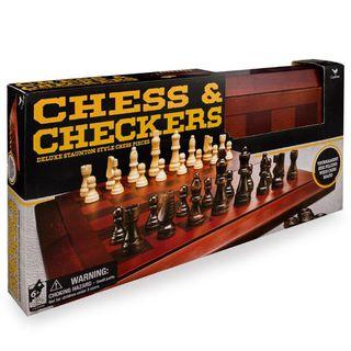 CARDINAL GAMES žaidimų rinkinys Mediniai šachmatai ir šaškės, 6033151