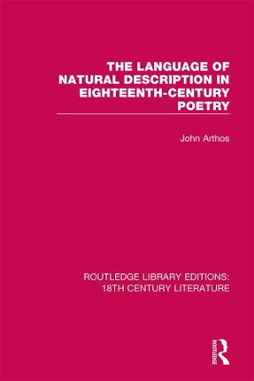The Language of Natural Description in Eighteenth-Century Poetry