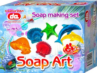 """""""Soap Art"""" muilo kūrybos rinkinys. Jūros gyvūnai"""