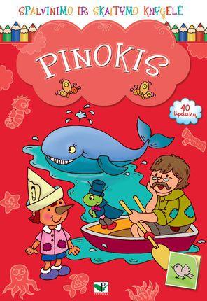 Pinokis. Spalvinimo ir skaitymo knygelė