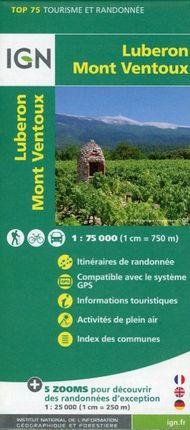 IGN 75 000 Luberon Mont Ventoux