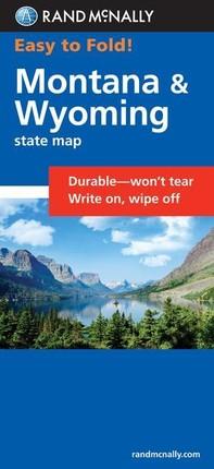 Rand McNally Easy to Fold: Montana, Wyoming (Laminated Fold Map)