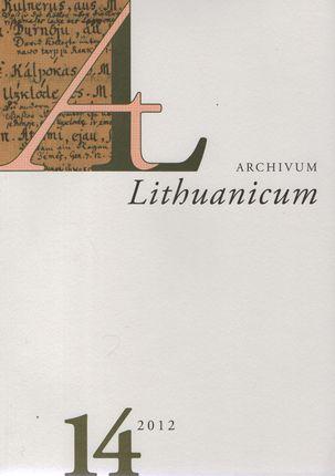 Archivum Lituanicum 14