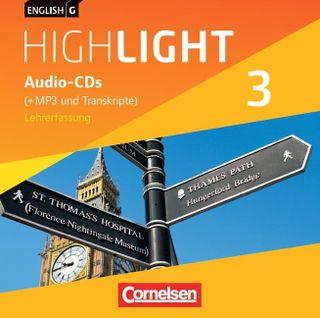 English G Highlight 03: 7. Schuljahr. Audio-CDs. Hauptschule (Vollfassung)