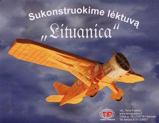 """3D klijuojamas lėktuvo modeliukas """"Lituanica"""""""