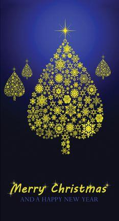 Kalėdinis sveikinimo atvirukas su voku (Merry Christmas)