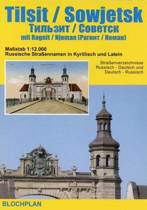 Stadtplan Tilsit / Sowjetsk mit Ragnit/Neman