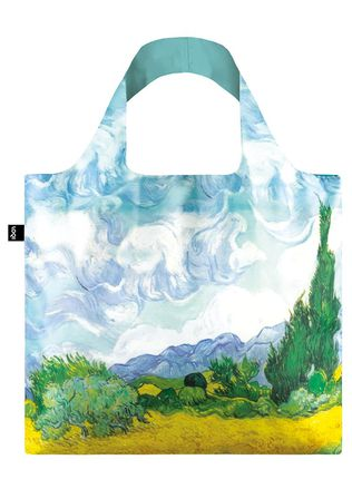 "LOQI pirkinių krepšys ""Vincent van Gogh: A Wheat Field with Cypresses. 1889 Bag"""