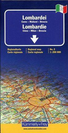 KuF Italien Regionalkarte 02. Lombardei de Agostini 1 : 200 000