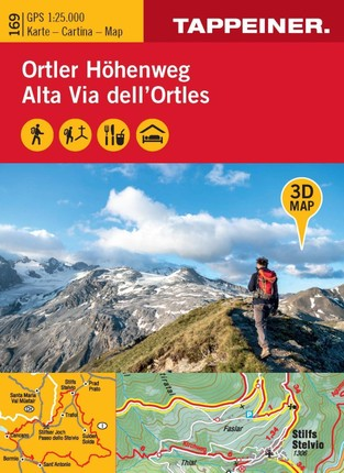 3D-Wanderkarte Ortler-Höhenweg 1:25 000