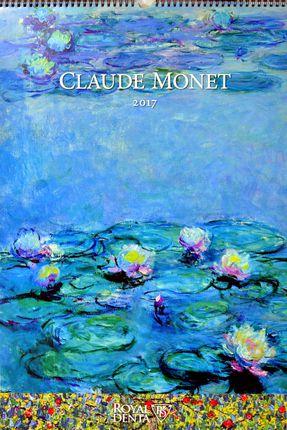2017 metų sieninis kalendorius Claude Monet su dovana