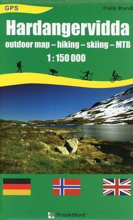 Hardangervidda 1 : 150 000