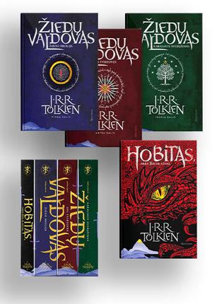4 knygų rinkinys ŽIEDŲ VALDOVAS: prie geriausių visų laikų fantasy žanro kūrinių priskiriama saga