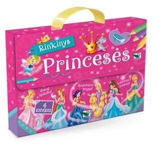 Princesės (4 knygos, lagaminėlis su rankenėle)