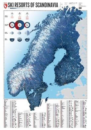 Skigebiete Skandinaviens 1:2 200 000