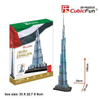 3D dėlionė: Burj Khalifa (136)
