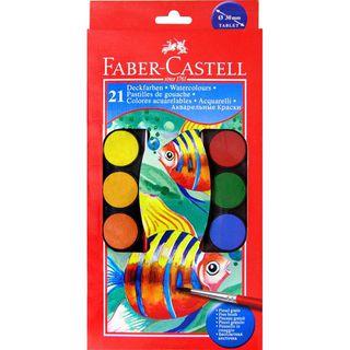 Akvarelės rinkinys Faber-Castell. 21 sp.
