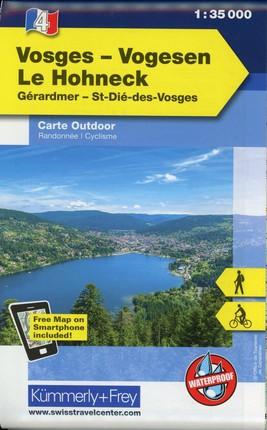 KuF Elsass / Vogesen Outdoorkarte 04 Vogesen - Le Hohneck 1 : 35 000