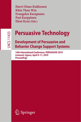 Persuasive Technology. Development of Persuasive and Behavior Change Support Systems