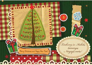 Kalėdinis sveikinimo atvirukas