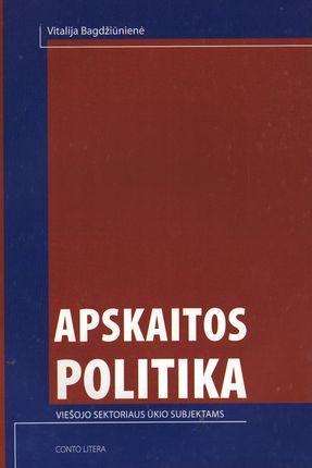 Apskaitos politika viešojo sektoriaus ūkio subjektams