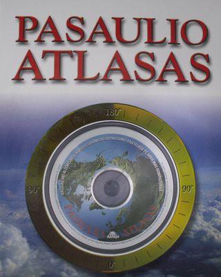 Pasaulio atlasas: įdomi knyga su kompaktine plokštele